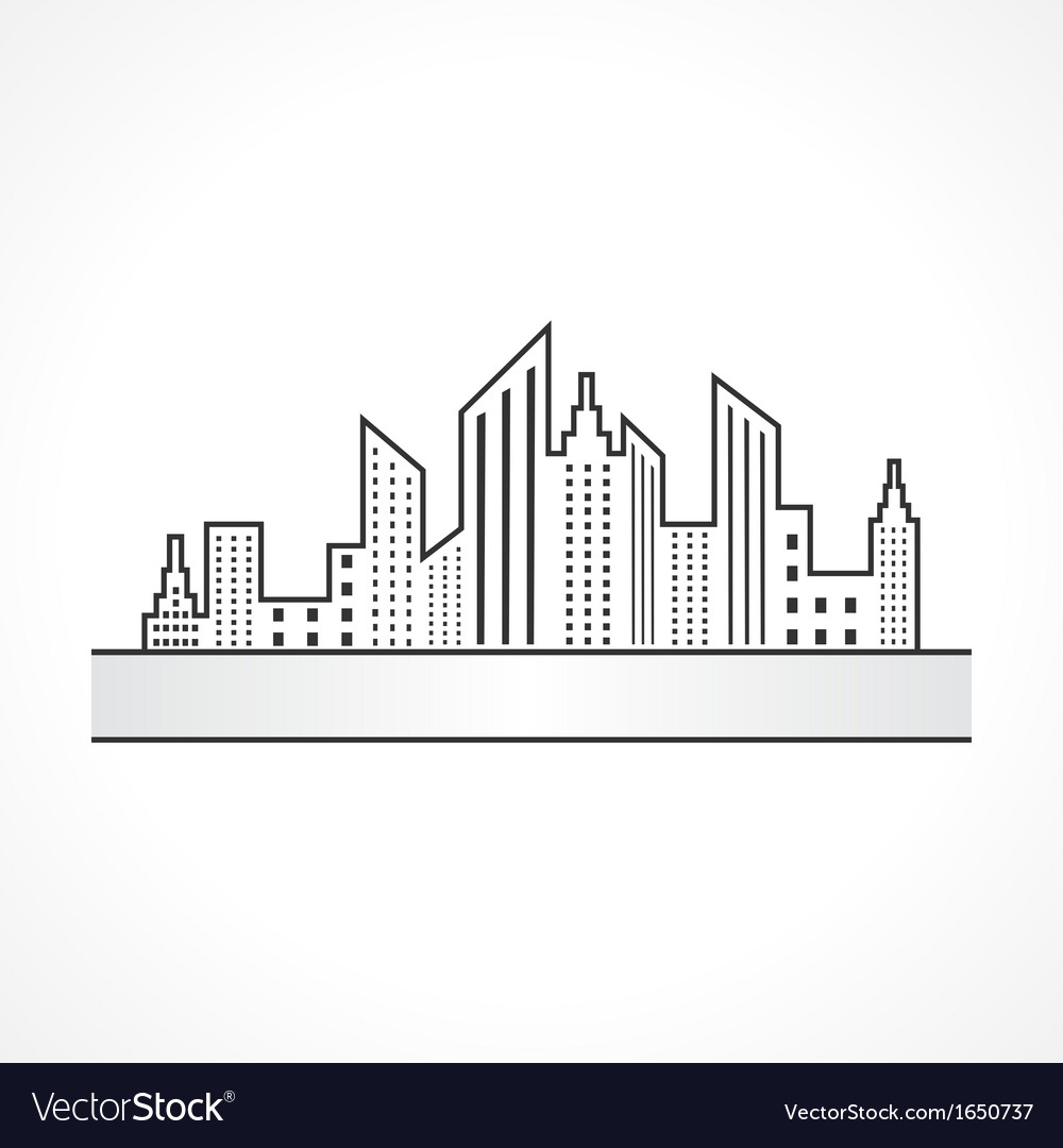 Abstract black real estate icon design vector | Price: 1 Credit (USD $1)