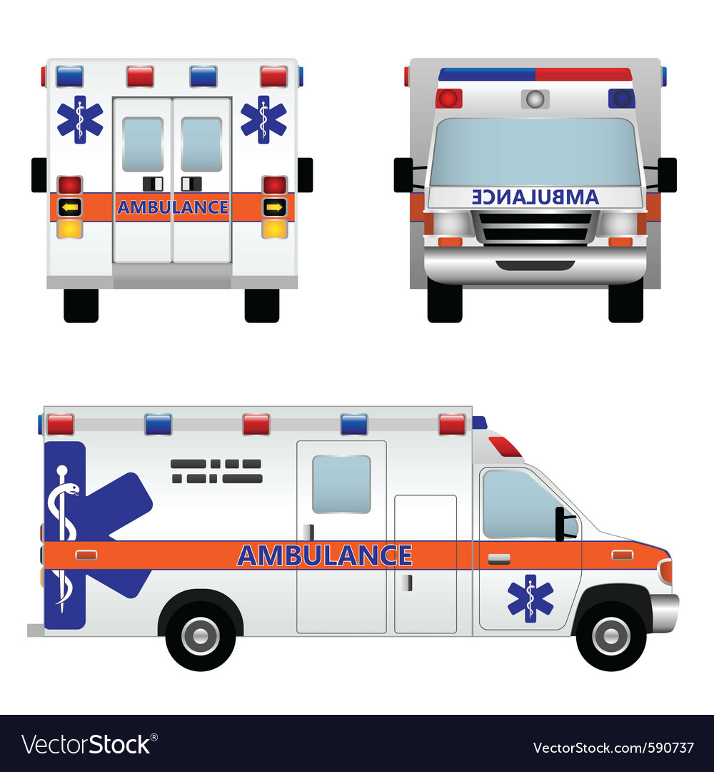 Ambulance car vector | Price: 1 Credit (USD $1)