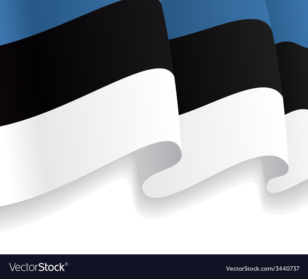 Background with waving estonian flag vector | Price: 1 Credit (USD $1)
