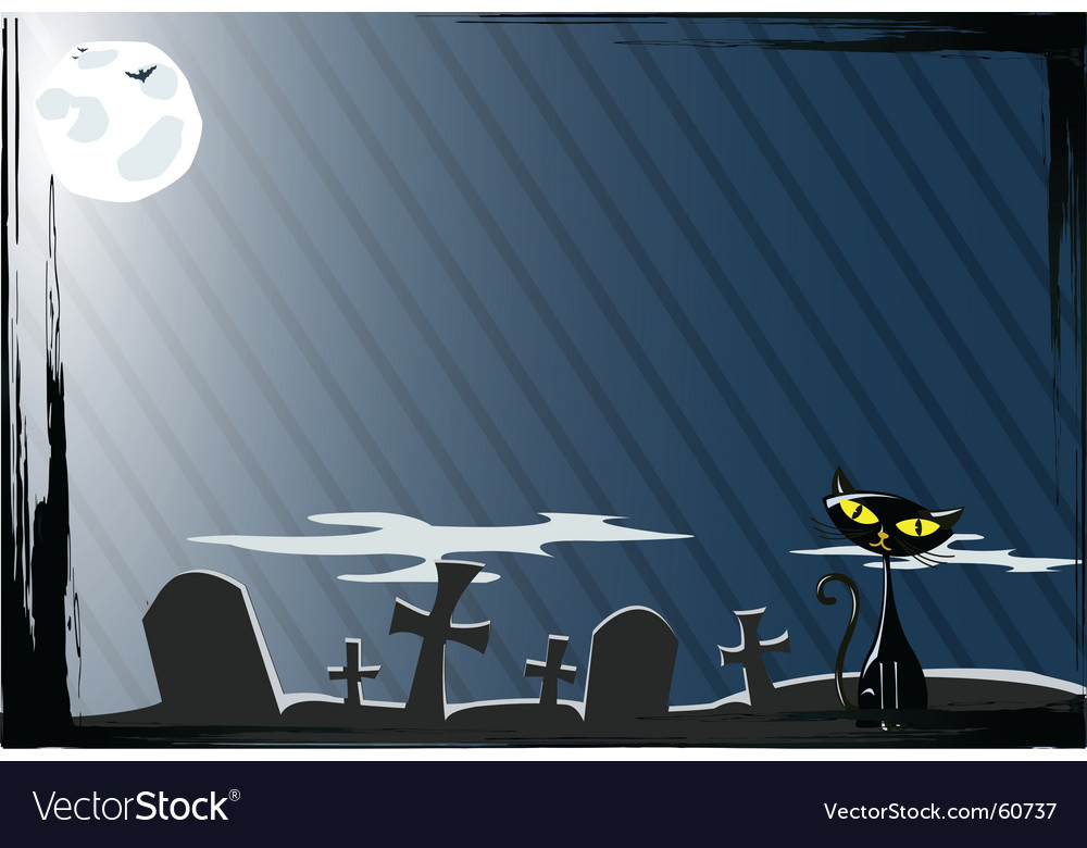 Cat on the grave vector | Price: 1 Credit (USD $1)