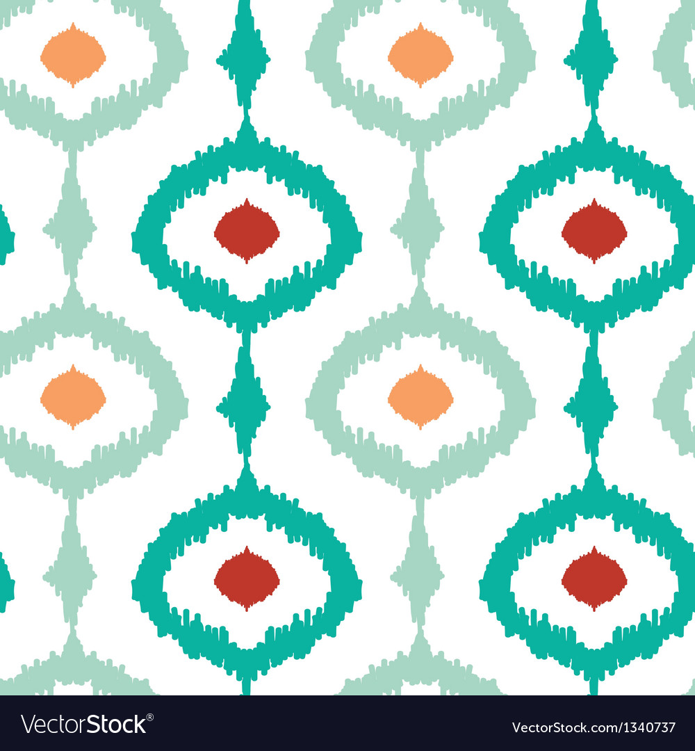 Colorful chain ikat seamless pattern background vector | Price: 1 Credit (USD $1)