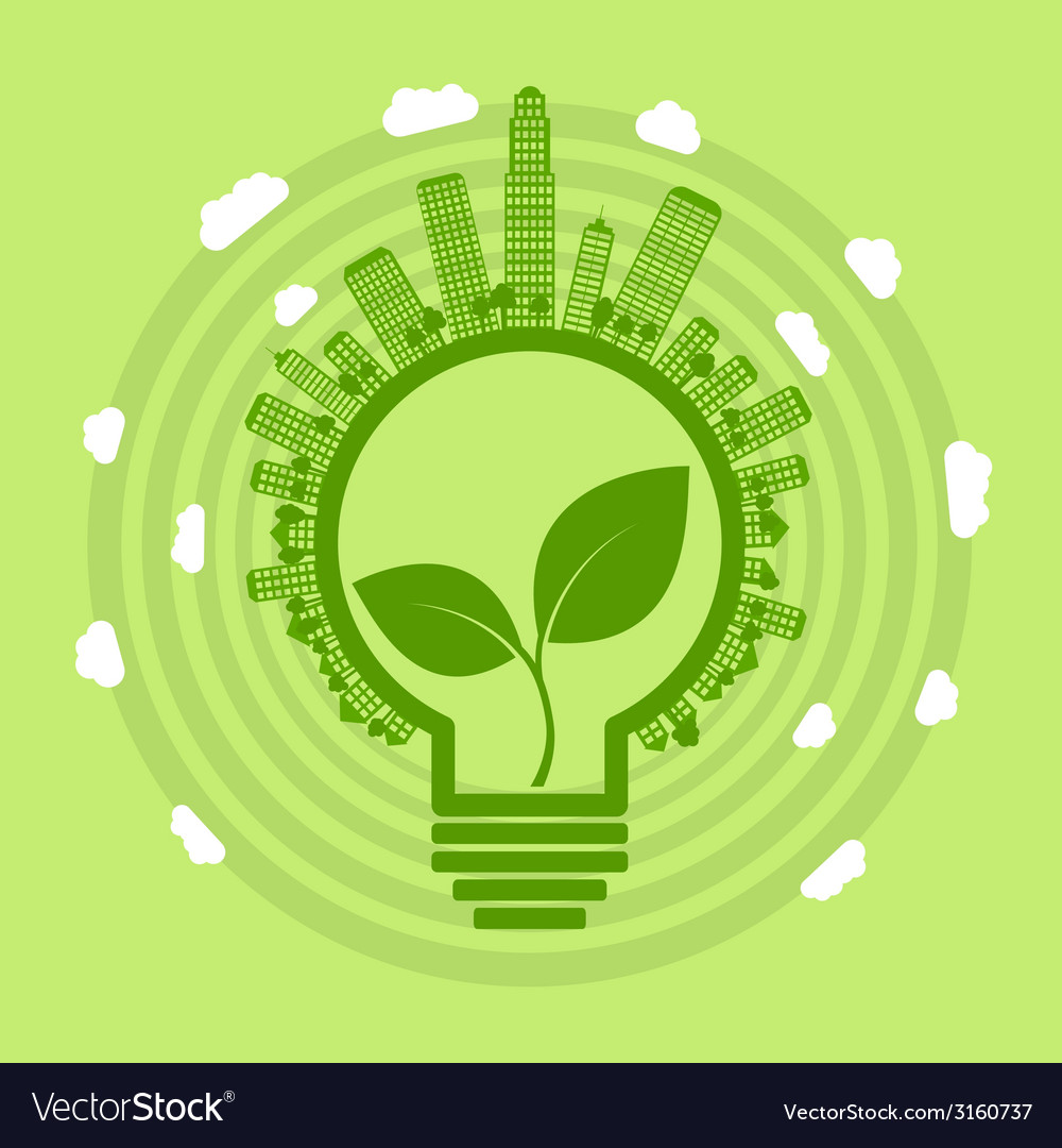 Eco bulb vector | Price: 1 Credit (USD $1)
