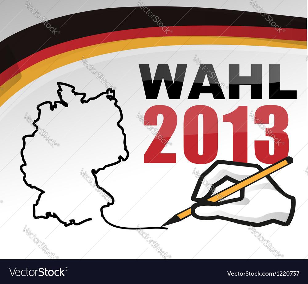 German elections vector | Price: 1 Credit (USD $1)