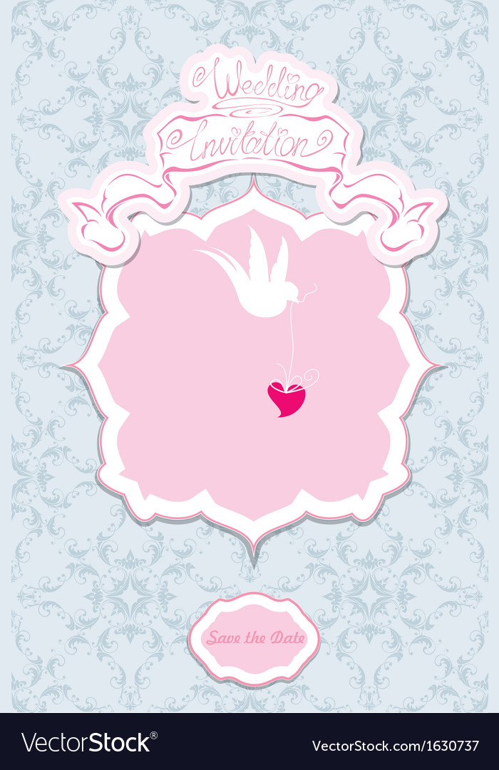 Greeting card with a lace ornament vector | Price: 1 Credit (USD $1)