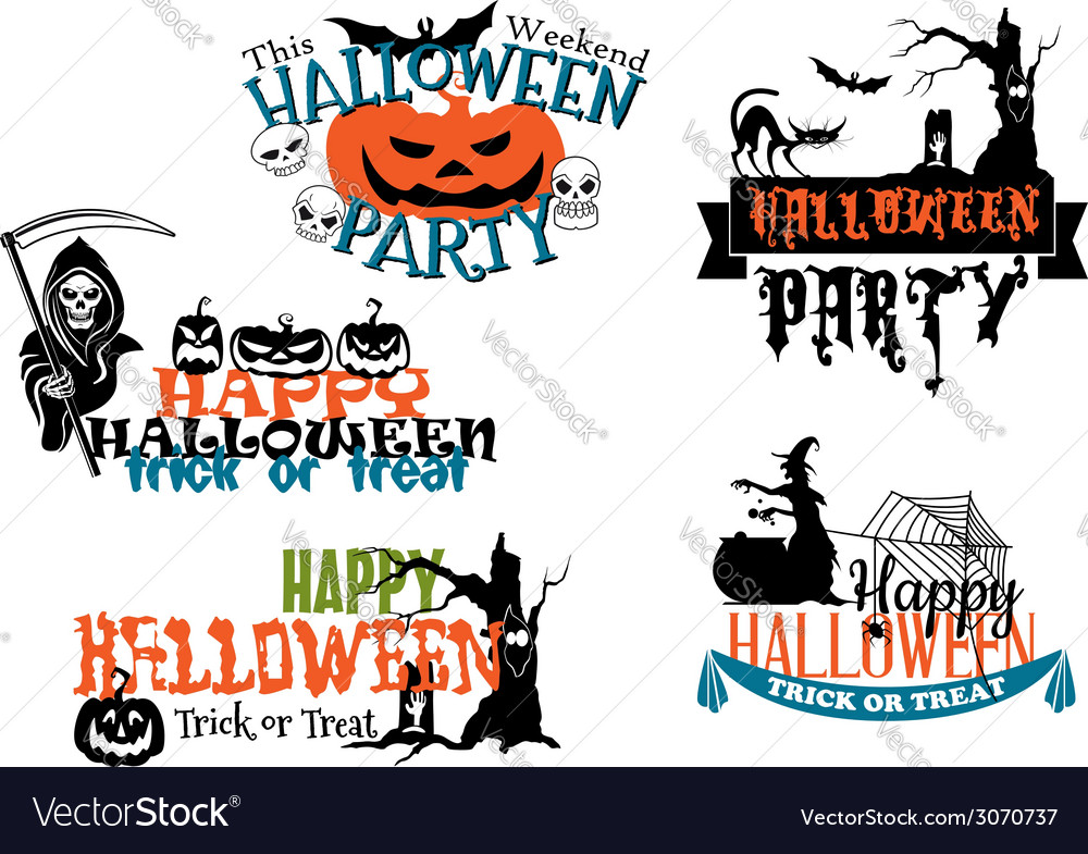 Happy halloween posters and banners vector | Price: 1 Credit (USD $1)