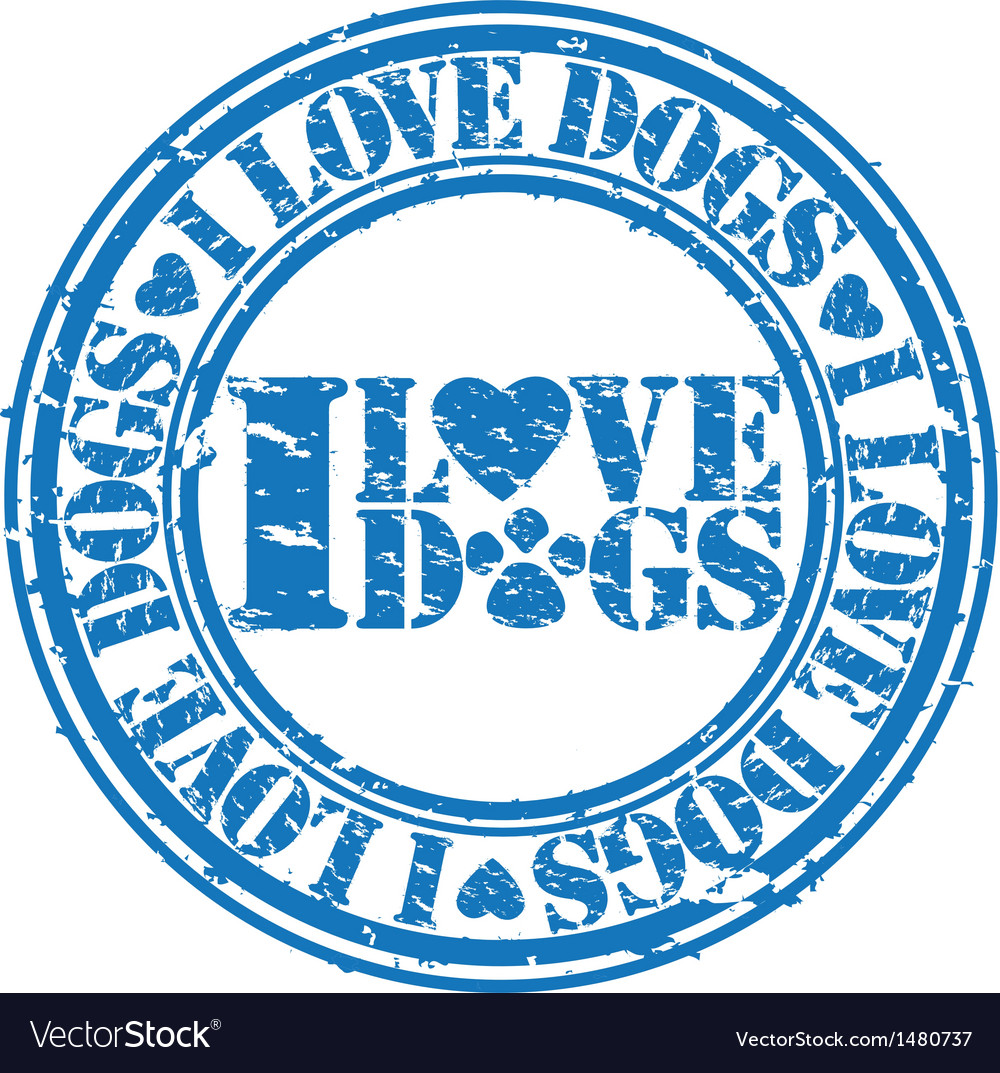 I love dogs stamp vector | Price: 1 Credit (USD $1)