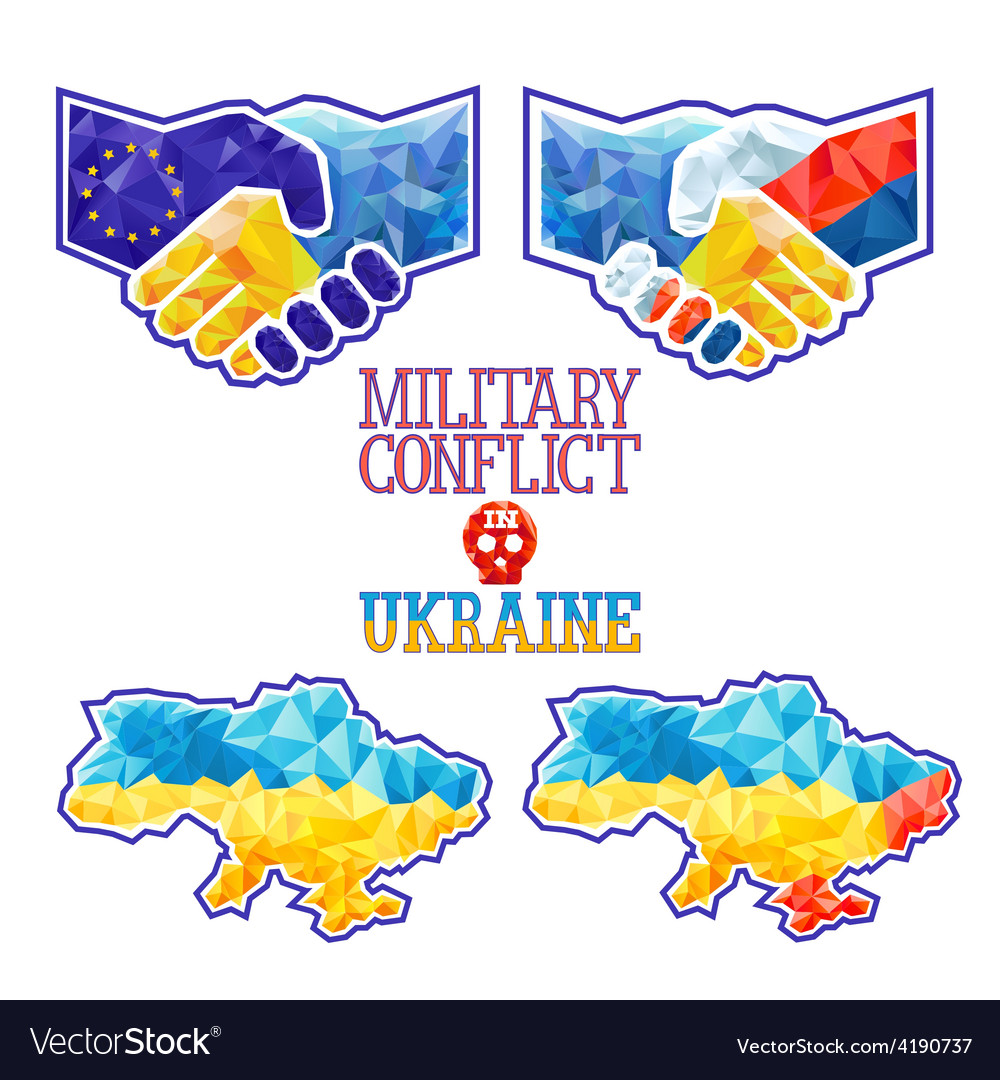 Military conflict in ukraine vector | Price: 3 Credit (USD $3)