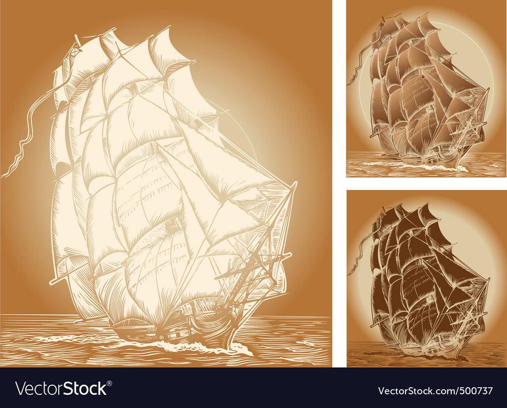 Old ships vector | Price: 1 Credit (USD $1)