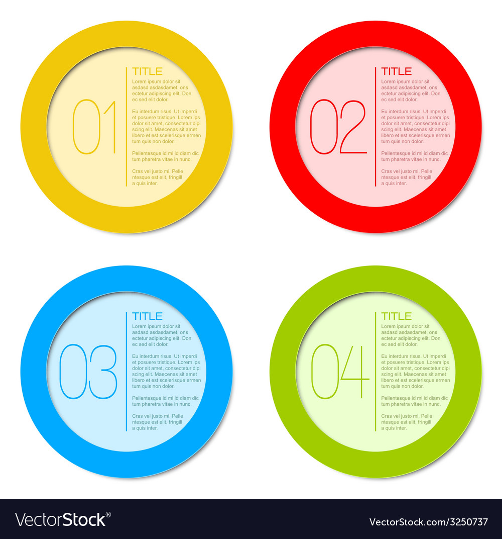 One two three four - progress icons vector | Price: 1 Credit (USD $1)