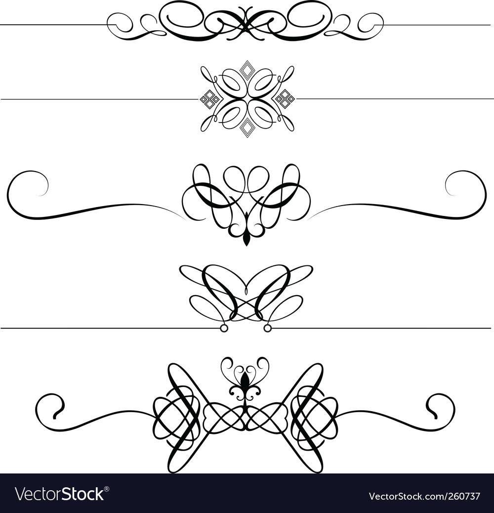 Page dividers vector | Price: 1 Credit (USD $1)
