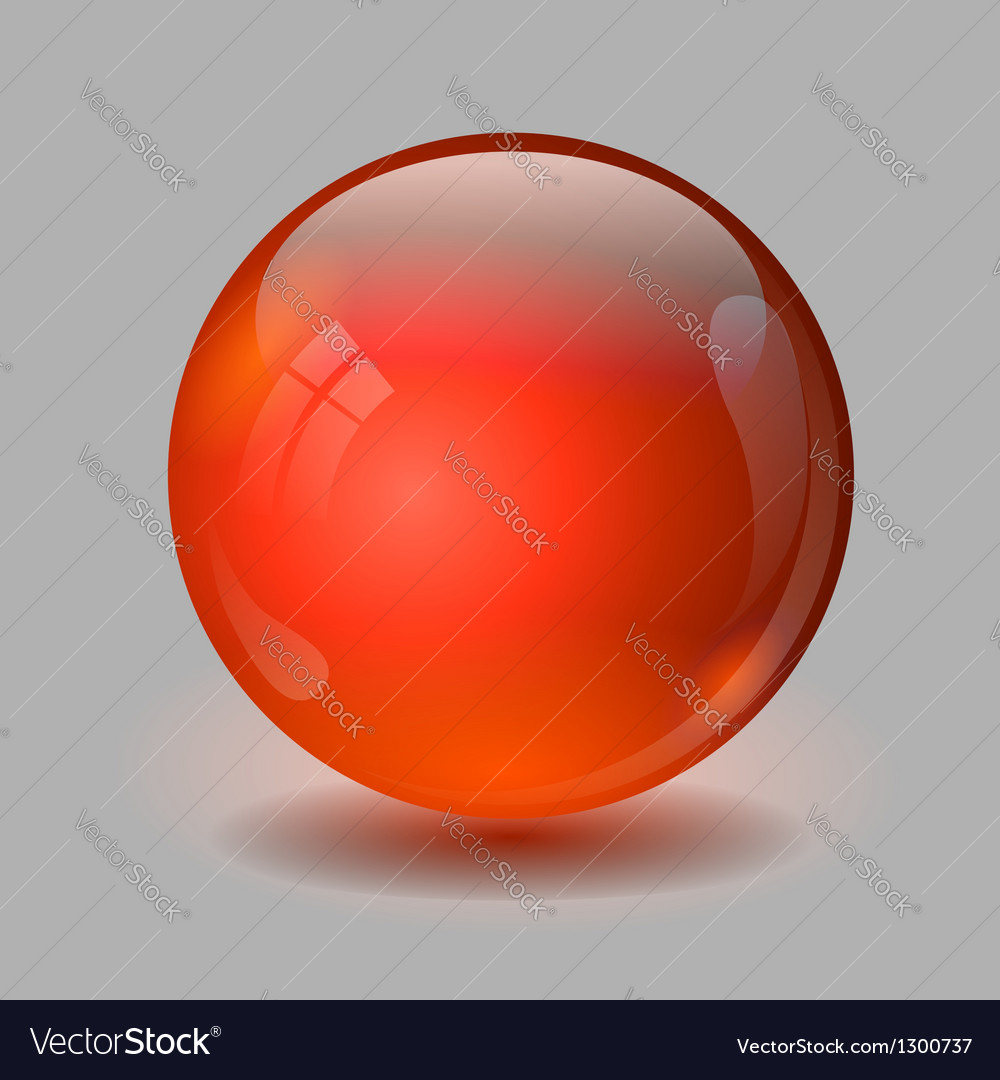 Red glass ball vector | Price: 1 Credit (USD $1)