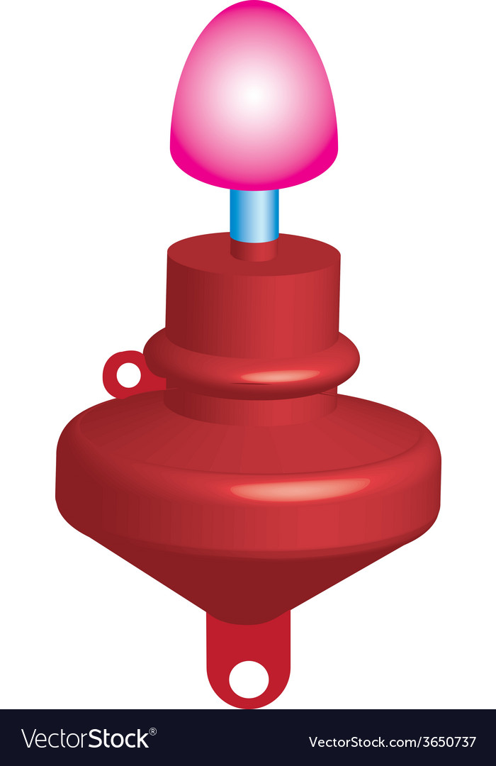 Red marker buoy vector | Price: 1 Credit (USD $1)