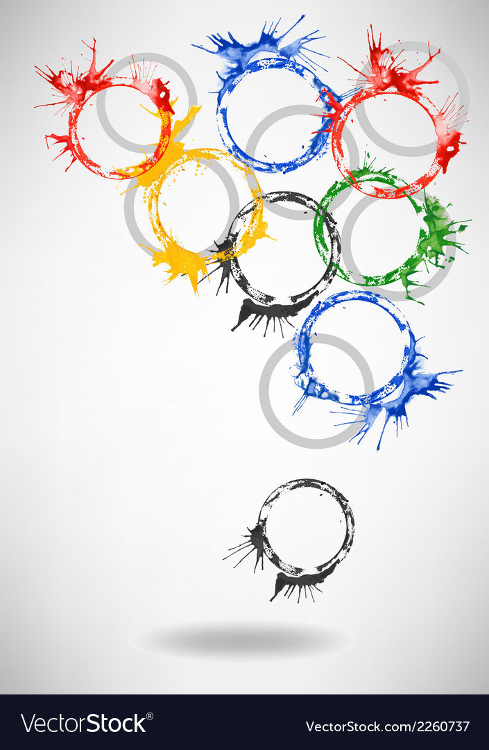 Watercolor rings - abstract background vector | Price: 1 Credit (USD $1)