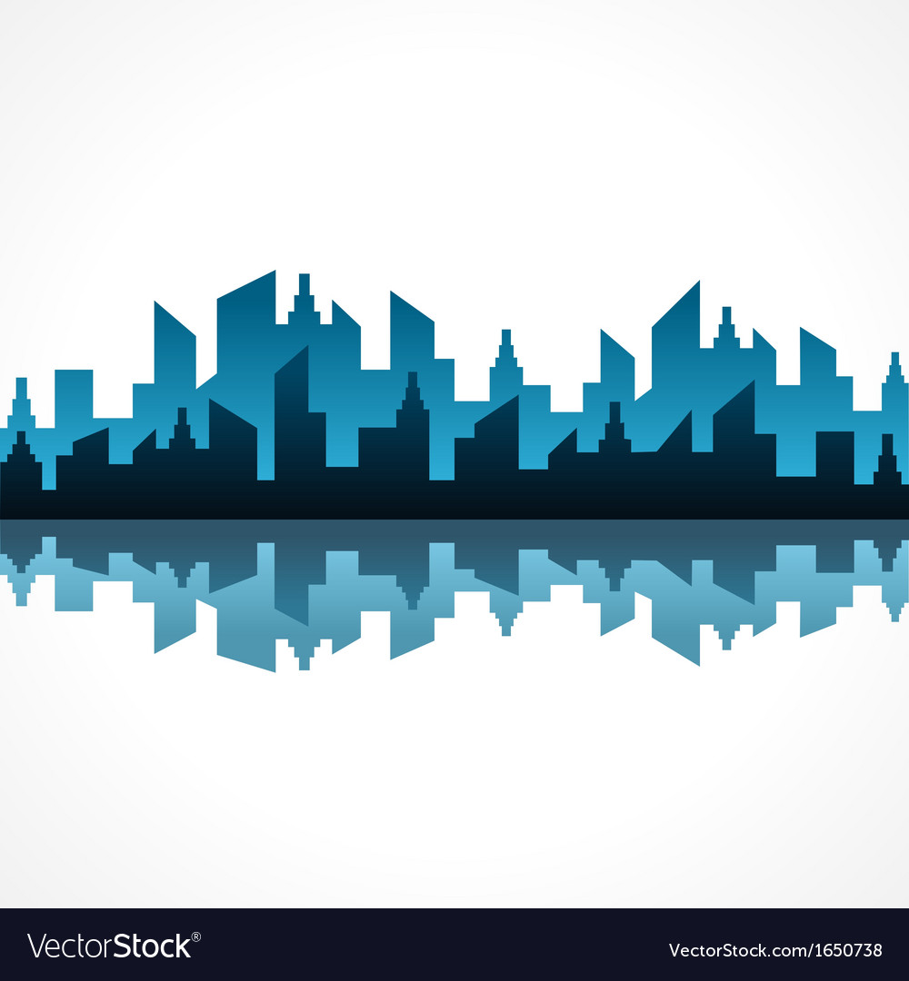 Abstract blue building design vector | Price: 1 Credit (USD $1)