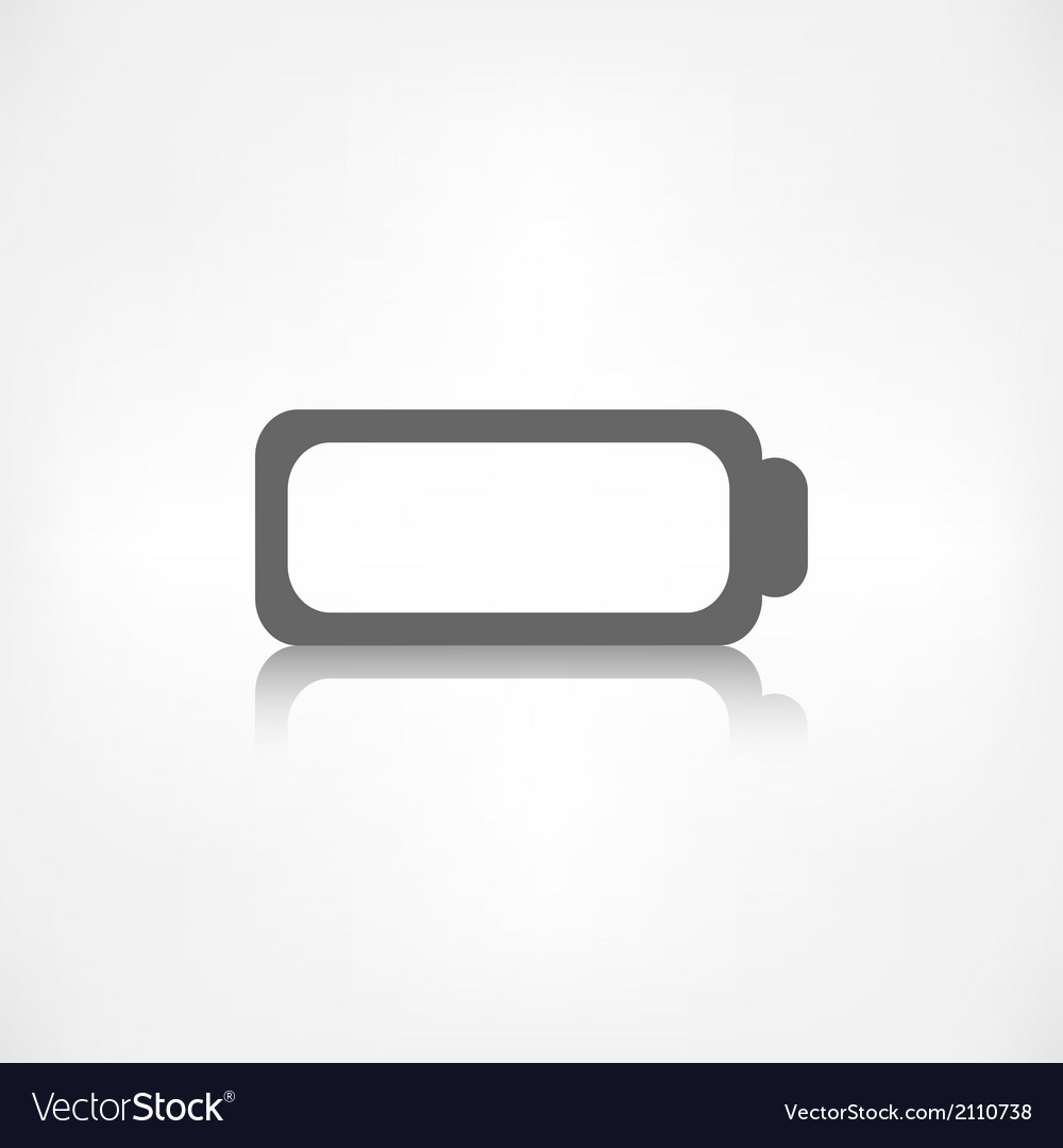 Battery icon accumulator symbol vector | Price: 1 Credit (USD $1)