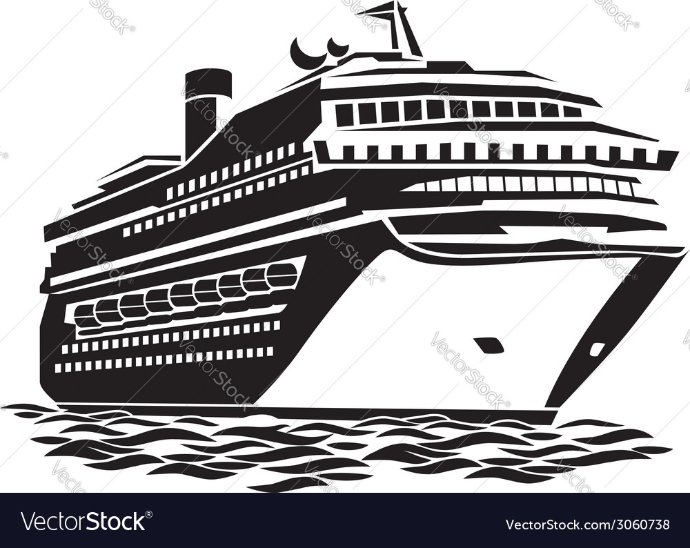 Big cruise liner vector | Price: 1 Credit (USD $1)