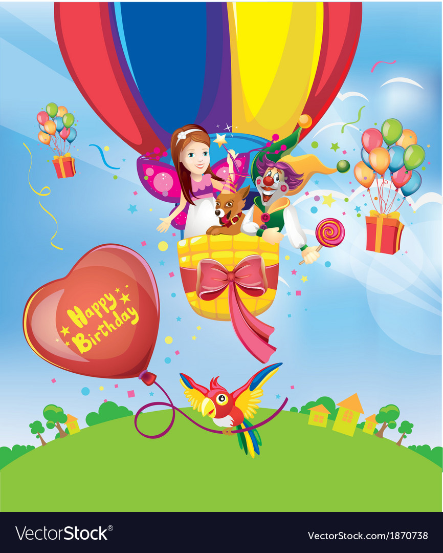 Birthday balloons vector | Price: 5 Credit (USD $5)
