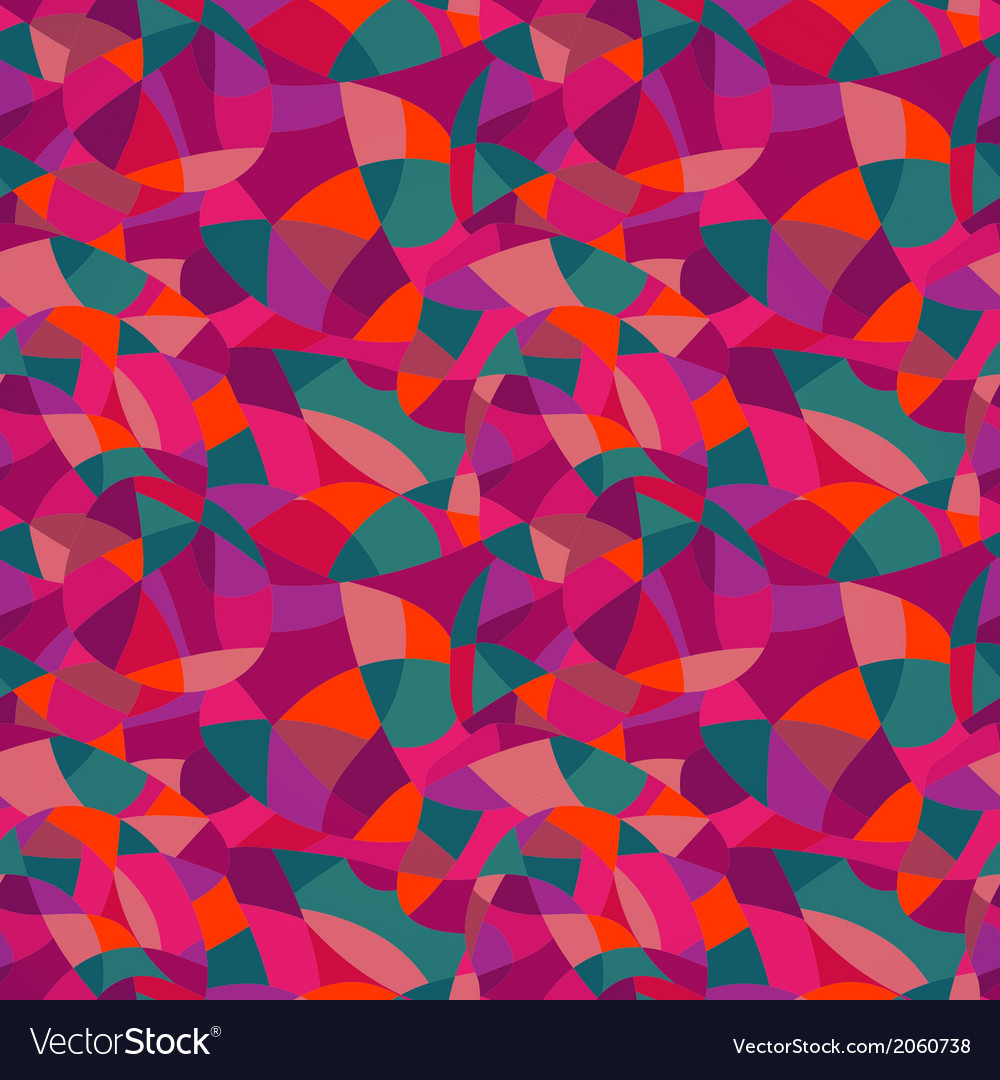 Bright colors mosaic seamless pattern looks vector | Price: 1 Credit (USD $1)