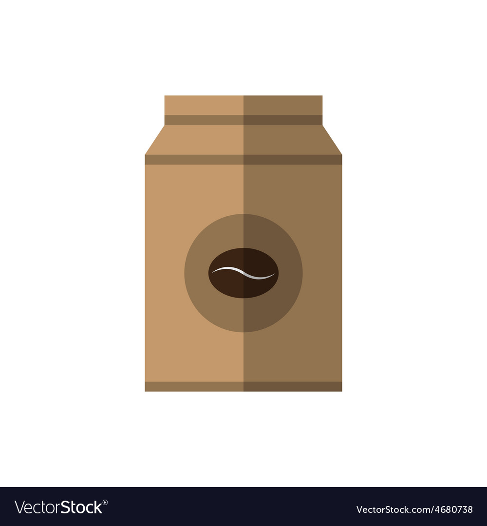 Coffee beans paper bag vector   Price: 1 Credit (USD $1)