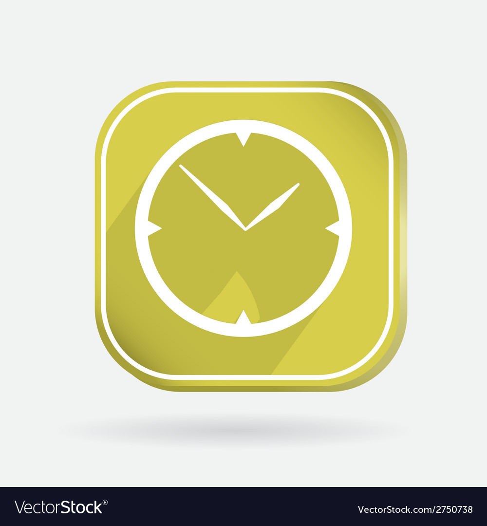 Color icon with shadow clock vector | Price: 1 Credit (USD $1)