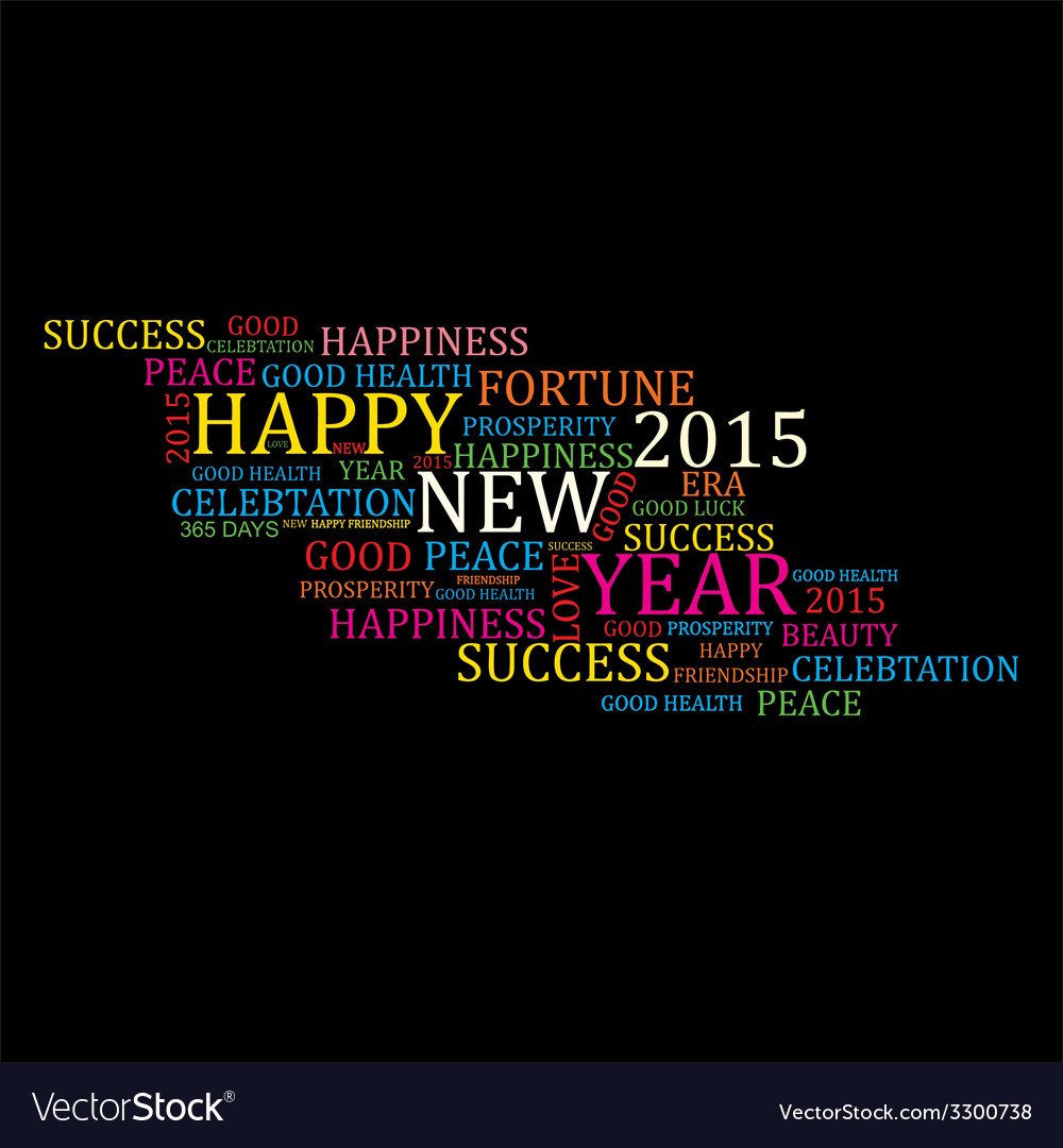 Creative new year 2015 design stock vector | Price: 1 Credit (USD $1)