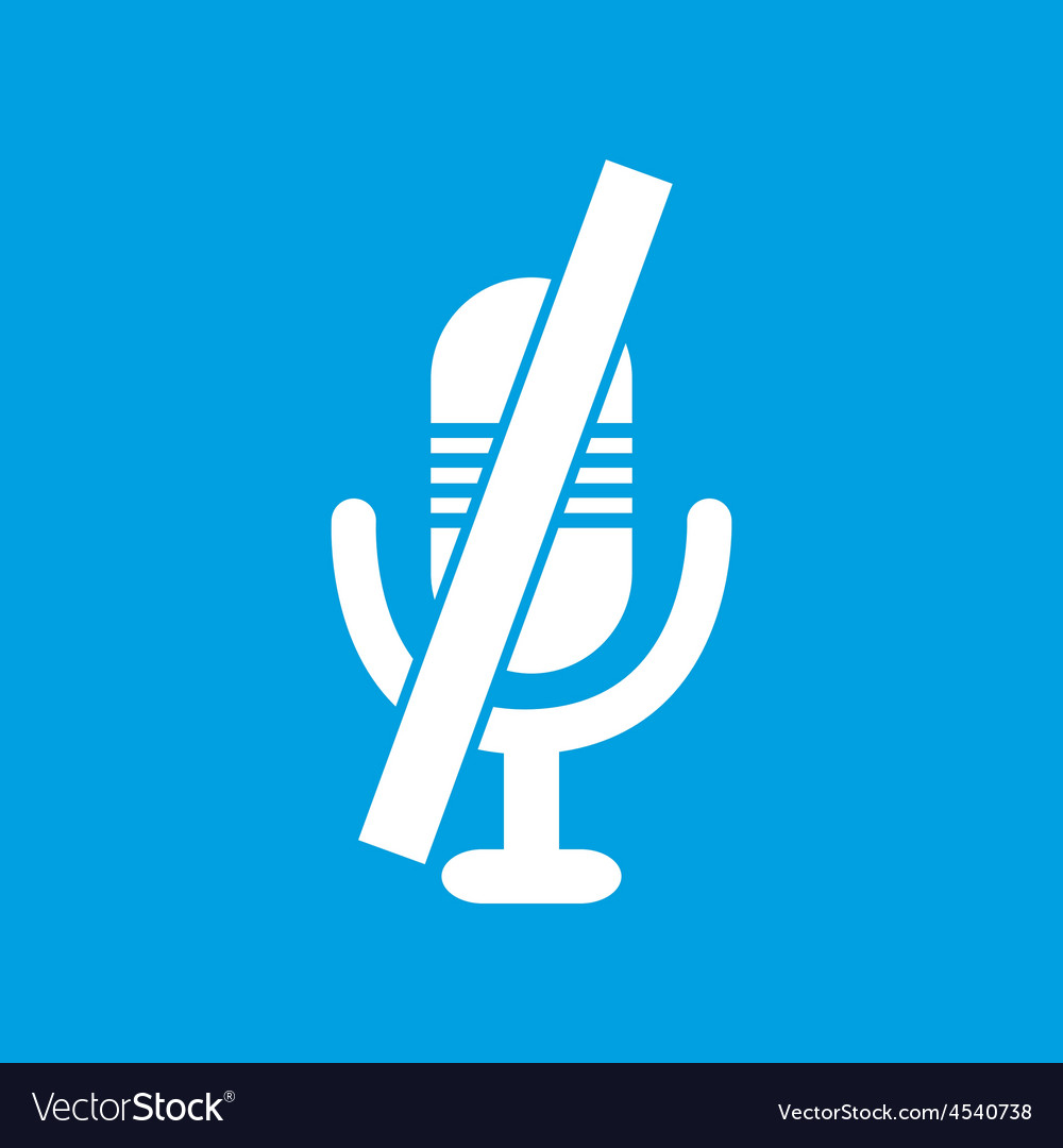 Crossed microphone symbol vector | Price: 1 Credit (USD $1)