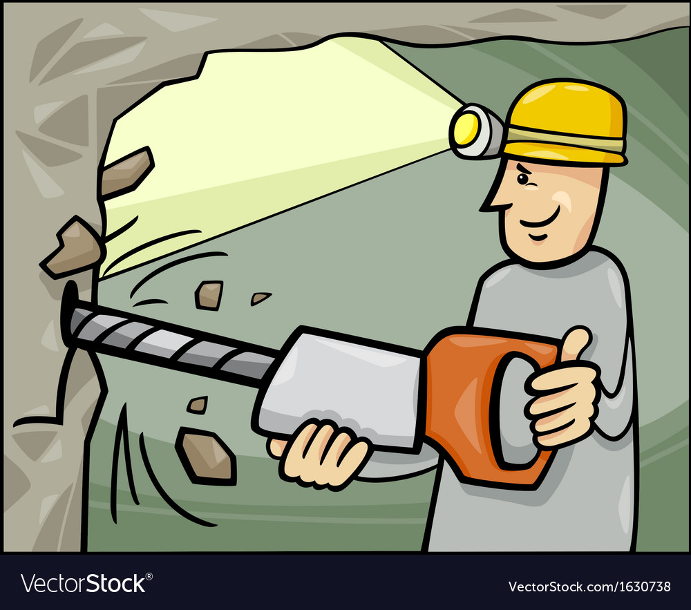 Miner at work cartoon vector | Price: 1 Credit (USD $1)