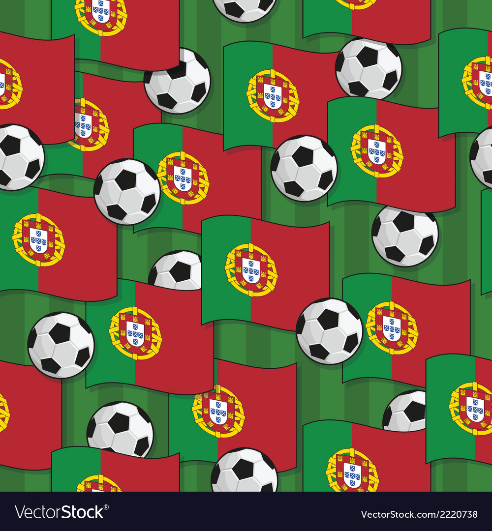 Portugal football pattern vector | Price: 1 Credit (USD $1)