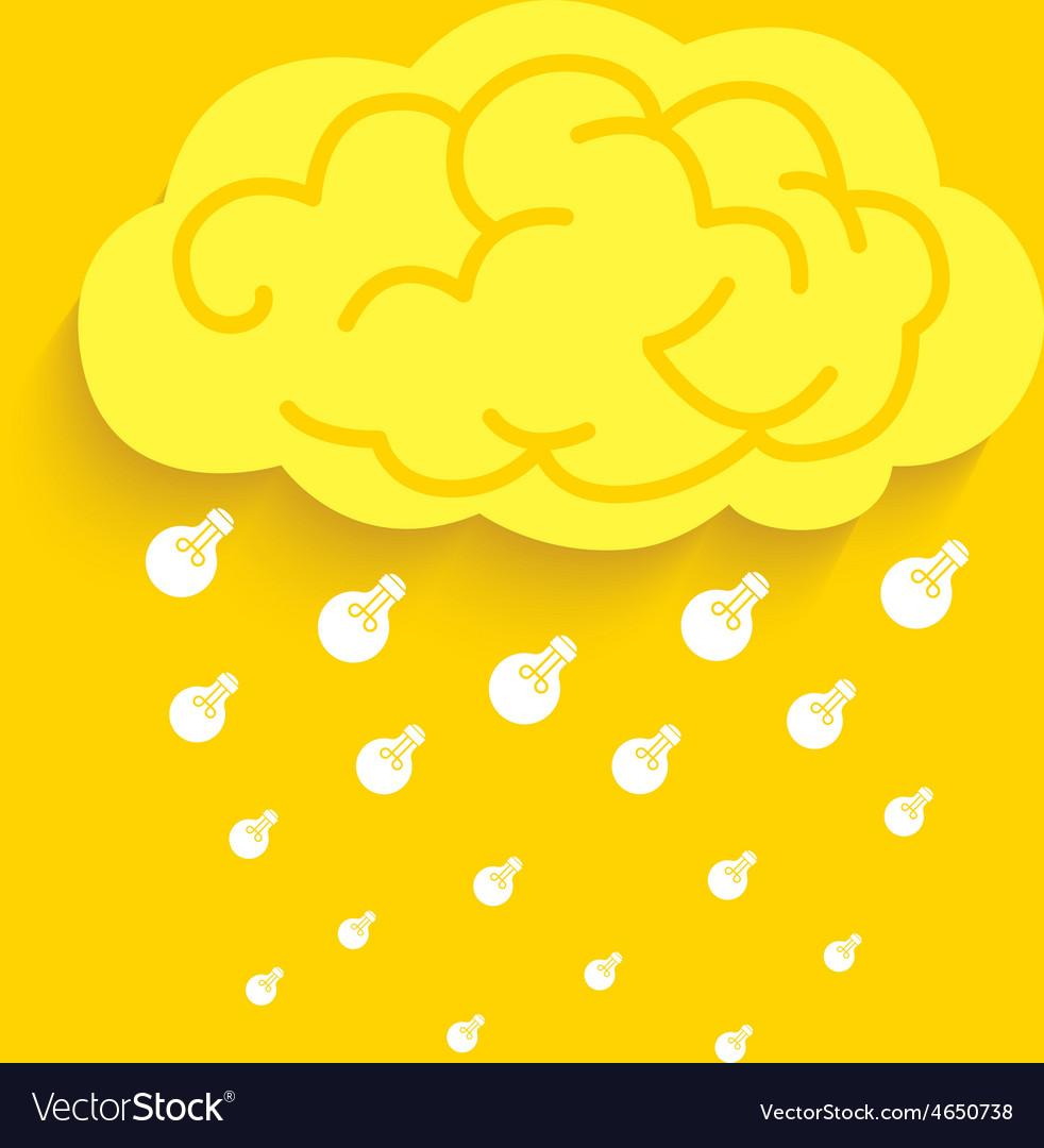 Rain idea light bulb vector | Price: 1 Credit (USD $1)