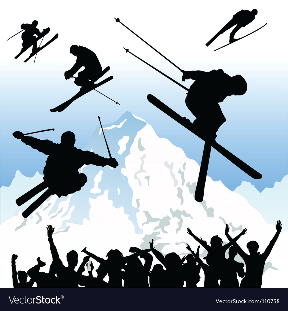 Ski vector | Price: 1 Credit (USD $1)