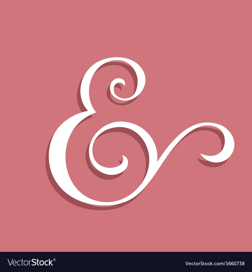 Wedding text decoration ampersand vector | Price: 1 Credit (USD $1)