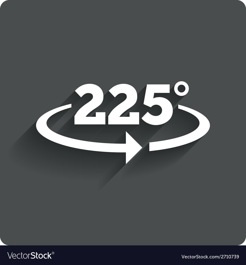 Angle 225 degrees sign icon geometry math symbol vector   Price: 1 Credit (USD $1)
