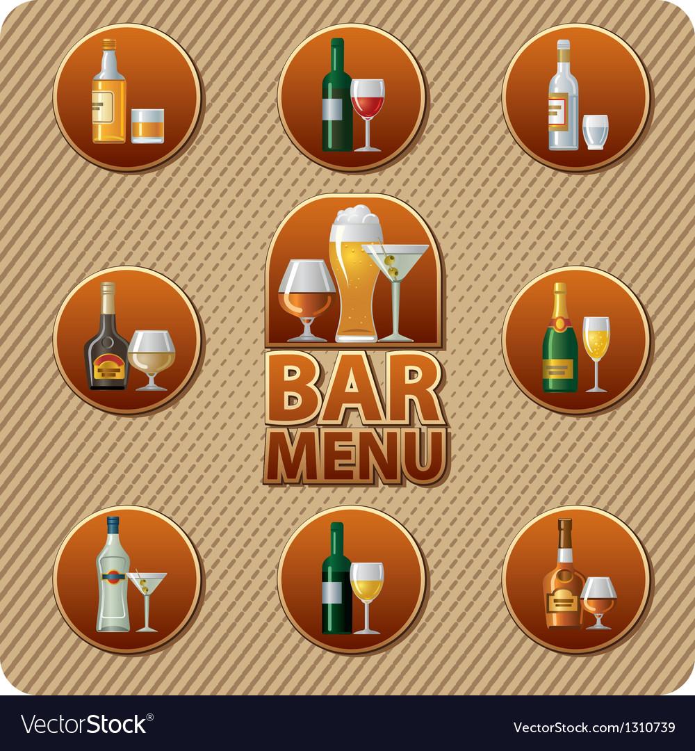 Bar menu icon vector | Price: 3 Credit (USD $3)