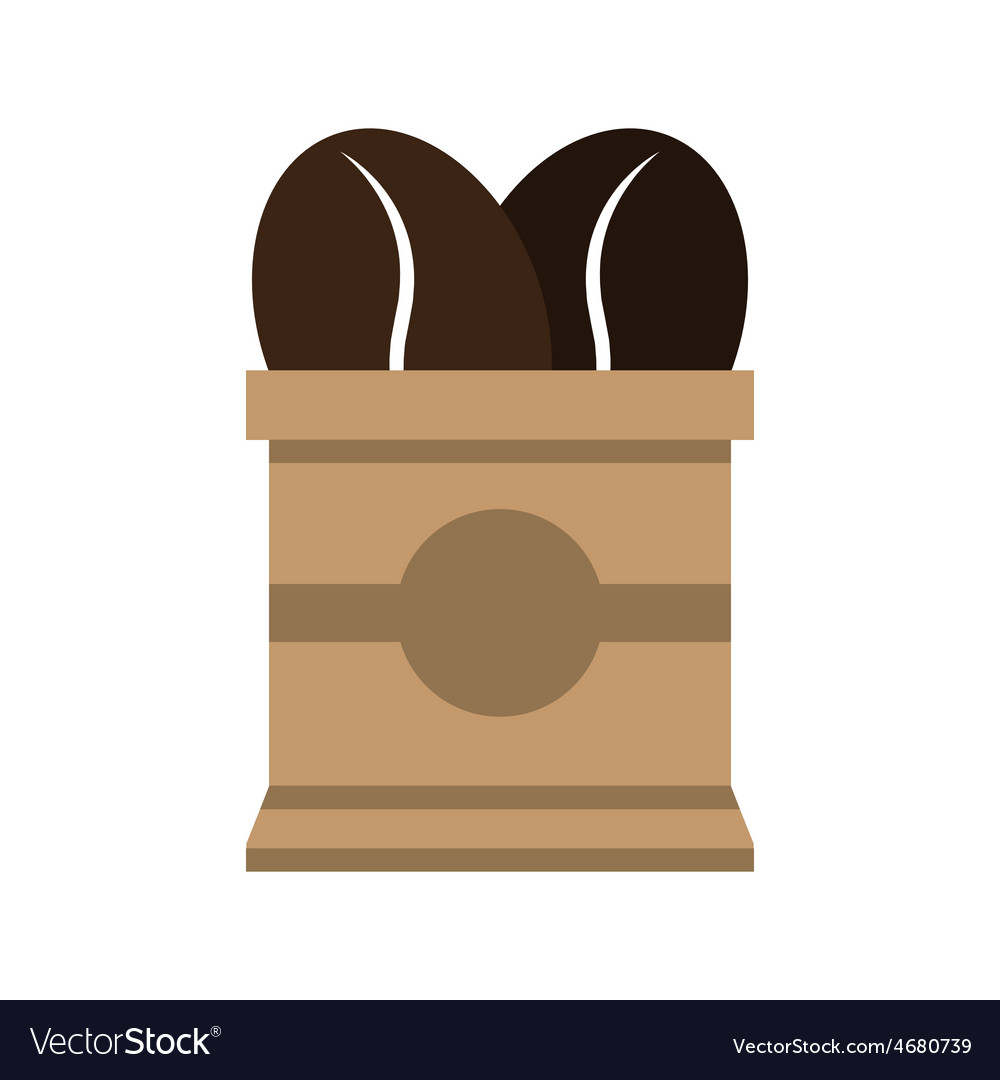 Coffee beans in paper bag vector   Price: 1 Credit (USD $1)