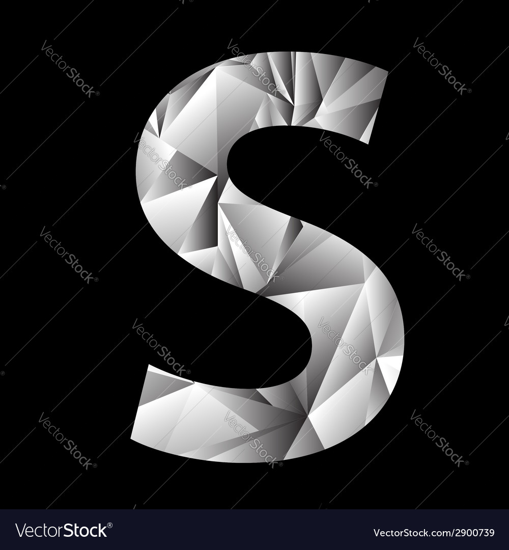 Crystal letter s vector | Price: 1 Credit (USD $1)