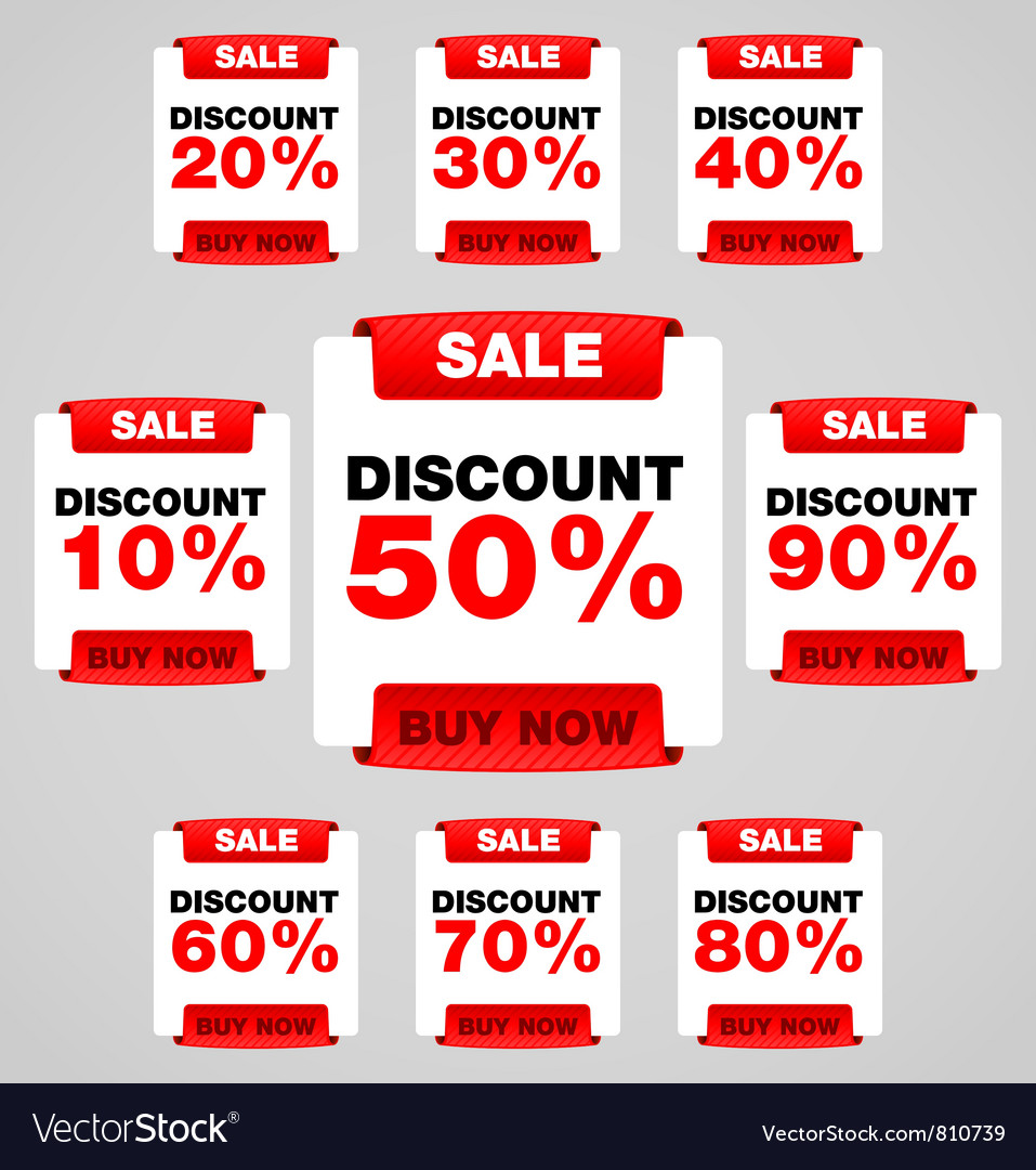Discount or sale tag vector | Price: 1 Credit (USD $1)