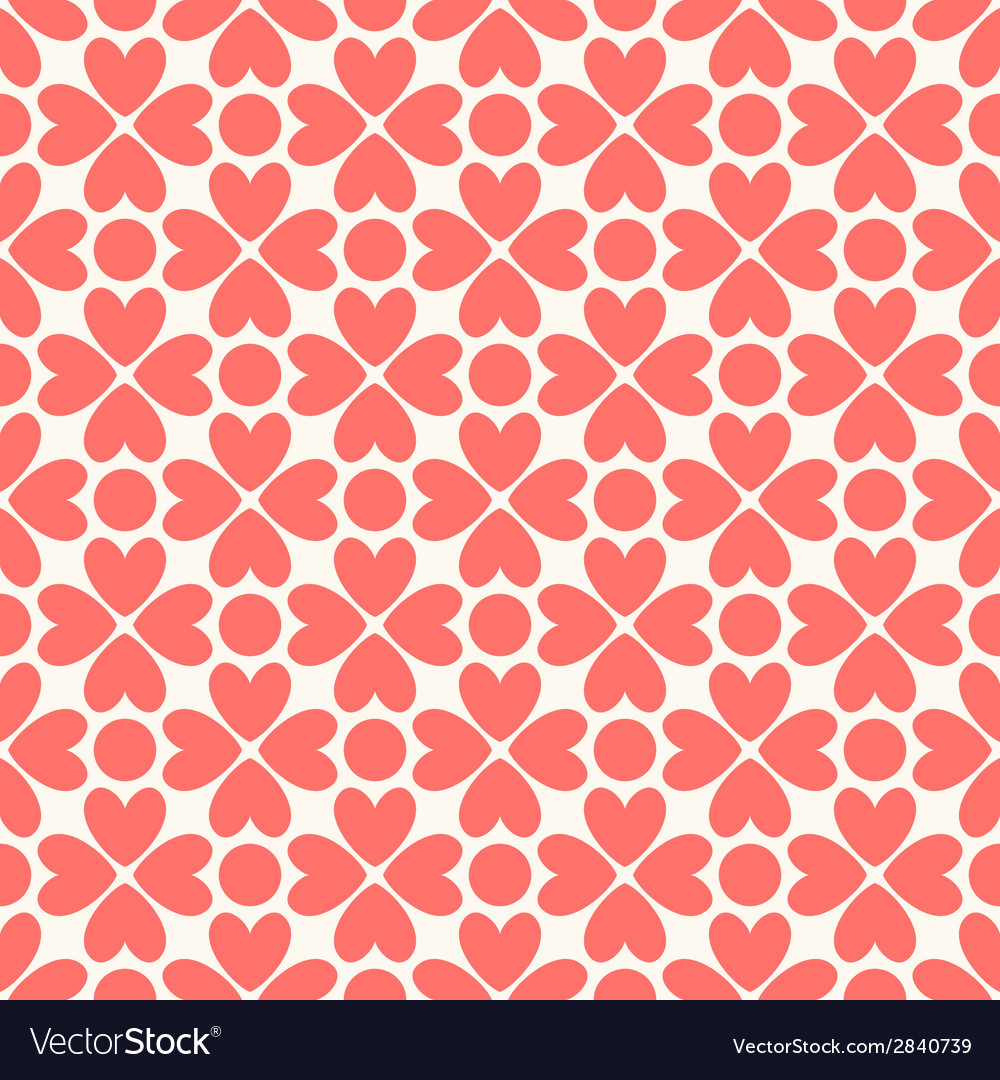 Floral seamless pattern red and white shabby vector | Price: 1 Credit (USD $1)