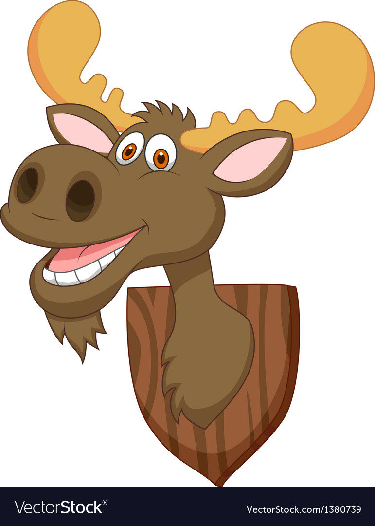 Moose head cartoon vector | Price: 3 Credit (USD $3)