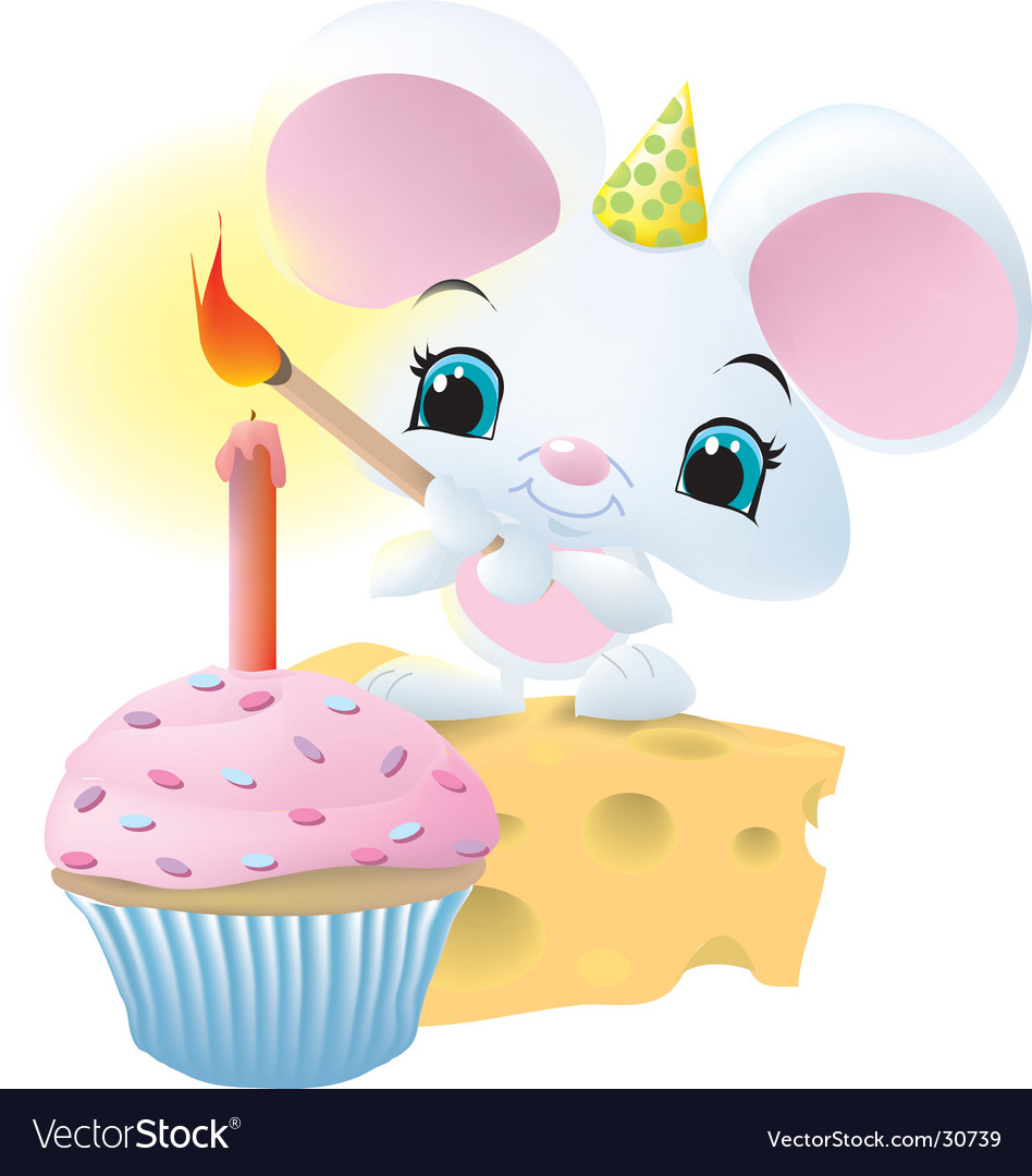 Mouseandcupcake vector | Price:  Credit (USD $)