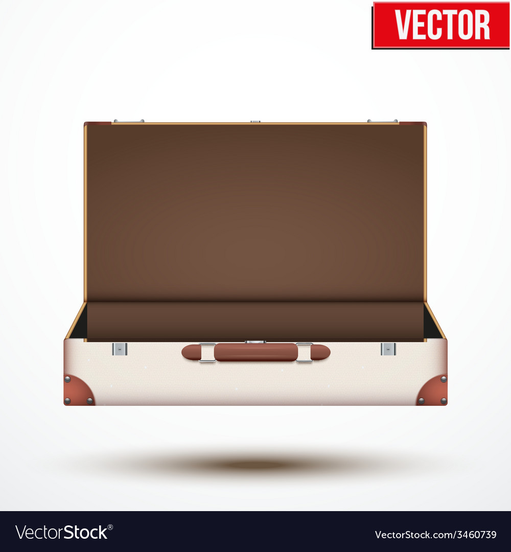 Open vintage leather travel suitcase vector | Price: 1 Credit (USD $1)