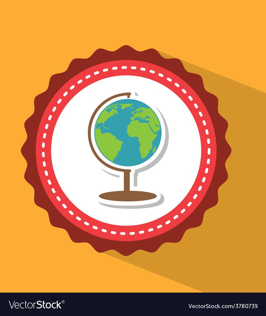 Planet earth school vector | Price: 1 Credit (USD $1)