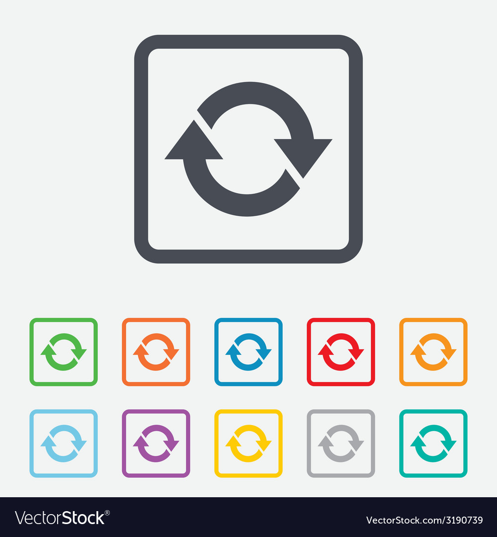 Rotation icon repeat symbol refresh sign vector   Price: 1 Credit (USD $1)