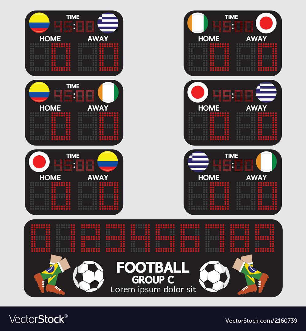 Scoreboard football tournament vector | Price: 1 Credit (USD $1)