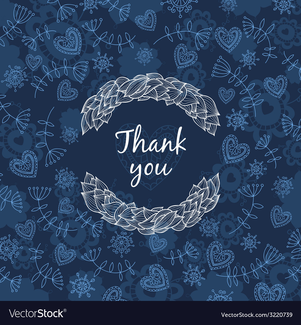 Thank you card with love vector | Price: 1 Credit (USD $1)