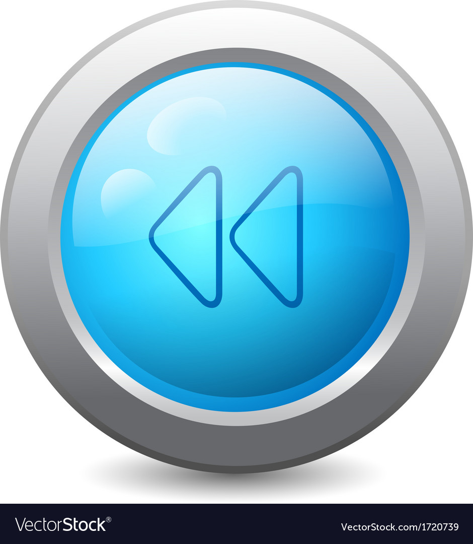 Web button with backward icon vector | Price: 1 Credit (USD $1)