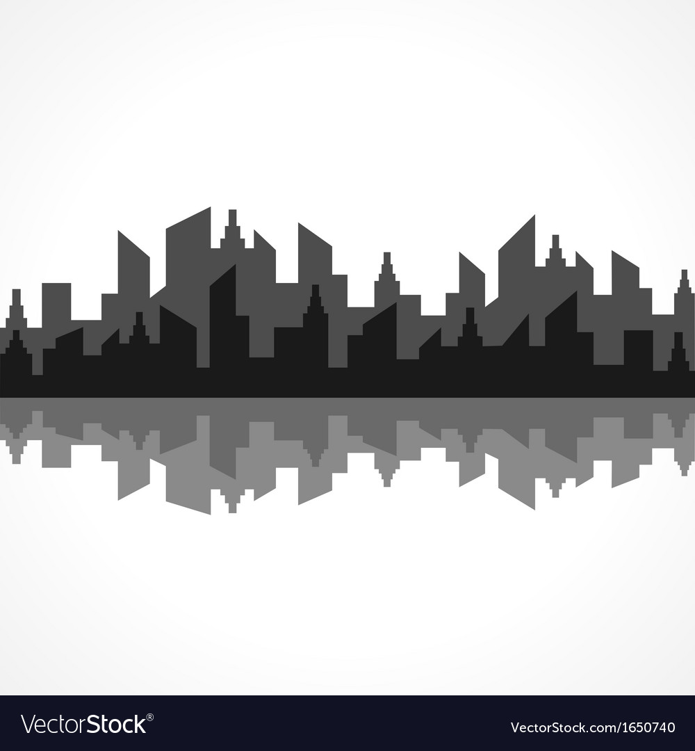 Abstract black building design vector | Price: 1 Credit (USD $1)