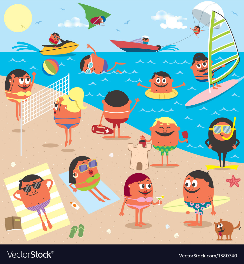 Beach vector | Price: 5 Credit (USD $5)