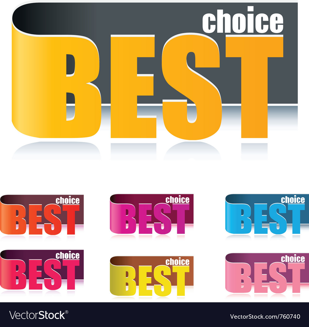 Best choice tags vector | Price: 1 Credit (USD $1)