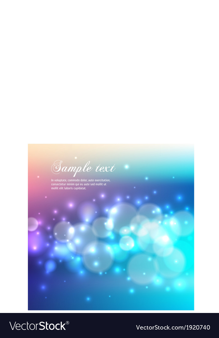 Blue bokeh abstract light background vector | Price: 1 Credit (USD $1)