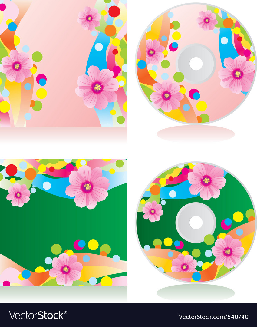 Flowers cd vector | Price: 1 Credit (USD $1)